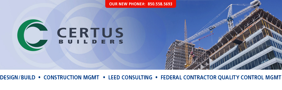 design/build, construction management, leed consulting, federal contractor quality control management