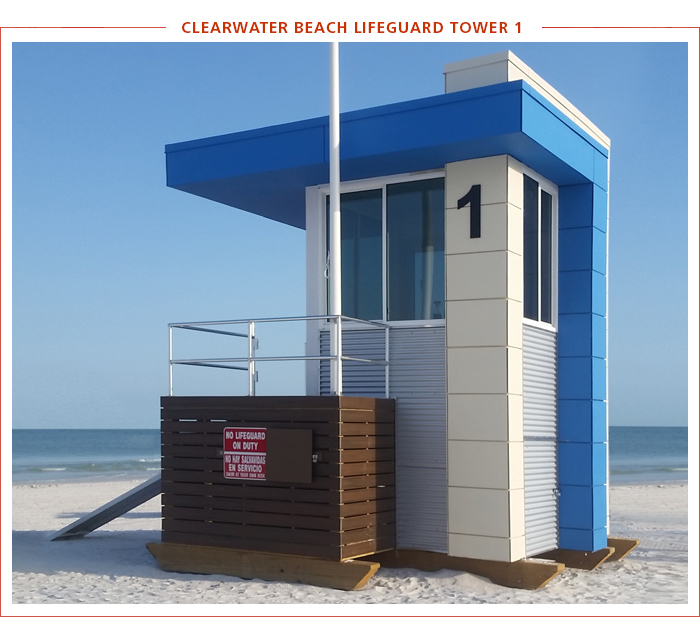 Clearwater Beach Lifeguard Tower 1